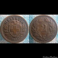 2 Rappen 1866