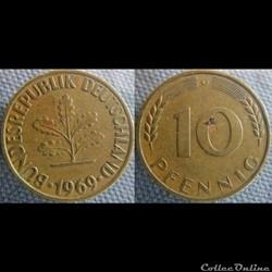 10 Pfennig 1969 G