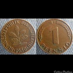 1 pfennig 1950 F