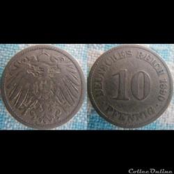 10 pfennig 1890 A