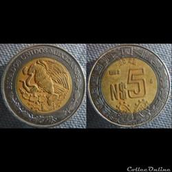 5 Nuevos Pesos 1993