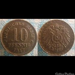 10 Pfennig 1917 G