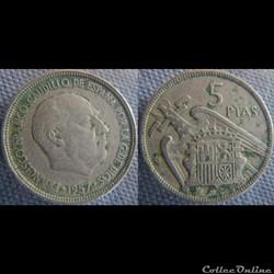 5 pesetas 1957 (60)