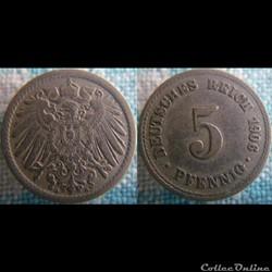 5 pfennig 1906 A