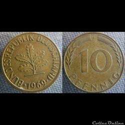 10 Pfennig 1969 J