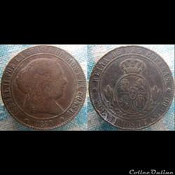 5 Centimos 1868 OM