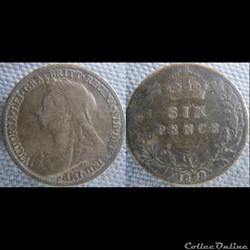 6 Pence 1899