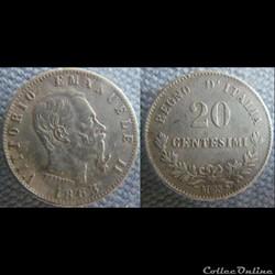 20 centesimi 1863 M