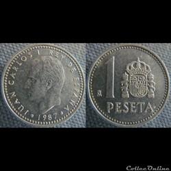 1 Peseta 1987
