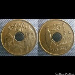 25 pesetas 1997