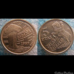 5 pesetas 1997 Baléares