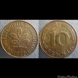 10 Pfennig 1977 D