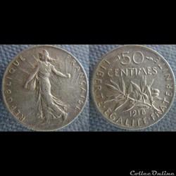 50 centimes 1918
