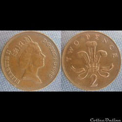 2 Pence 1988