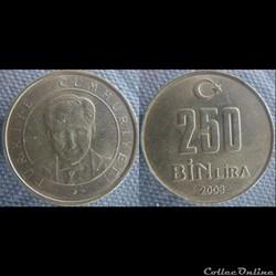 250 000 livre 2003