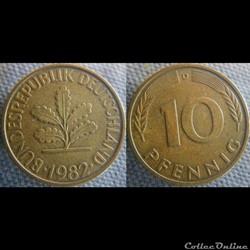 10 Pfennig 1982 D
