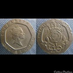 20 Pence 1988