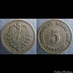 5 pfennig 1875 G