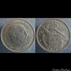 5 pesetas 1957 (69)