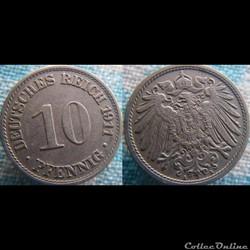 10 pfennig 1911 A