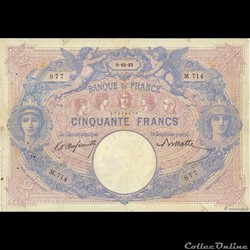 50 francs Bleu & Rose - 1893