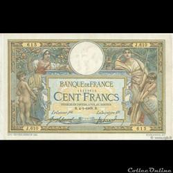 "100 francs Merson - 1909 ""LOM 02"""