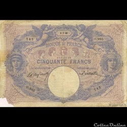 50 francs Bleu & Rose - 1895