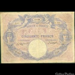50 francs Bleu & Rose - 1890