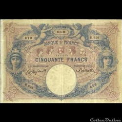 50 francs Bleu & Rose - 1892