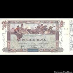 5000 Francs Flameng - 1918