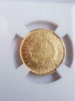 20 Francs or 1807A Napoléon tête laurée,...