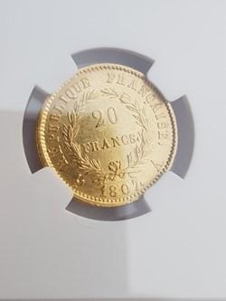 20 Francs or 1807A Napoléon tête nue, tr...
