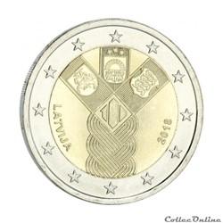2 euro - Lettonie 2018