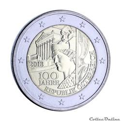 2 euro - Autriche 2018