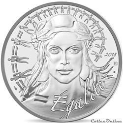 20 euros Marianne-Egalité 2018