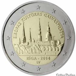 2 euro - Lettonie 2014
