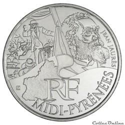 10 euros Midi-Pyrénées 2012