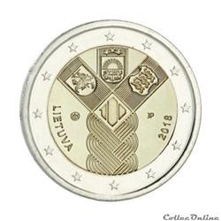2 euro - Lituanie 2018