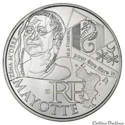 10 euros Mayotte 2012