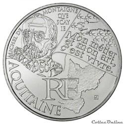 10 euros Aquitaine 2012