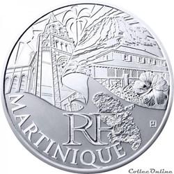 10 euros Martinique 2011