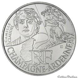 10 euros Champagne-Ardenne 2012