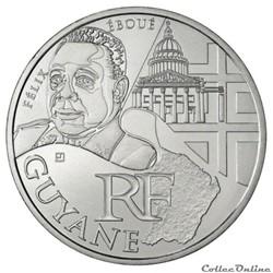 10 euros Guyane 2012