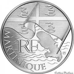 10 euros Martinique 2010