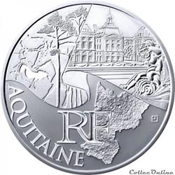 10 euros Aquitaine 2011