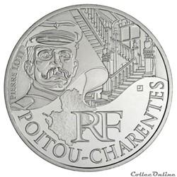 10 euros Poitou-Charentes 2012