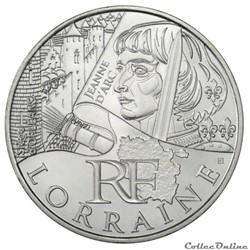 10 euros Lorraine 2012
