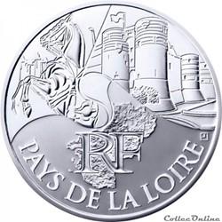 10 euros Pays de la Loire 2011