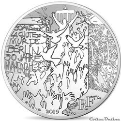 21 euros Chute du mur de Berlin 2019
