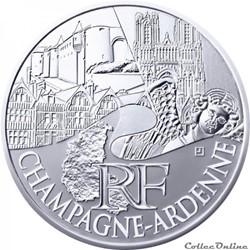 10 euros Champagne-Ardenne 2011